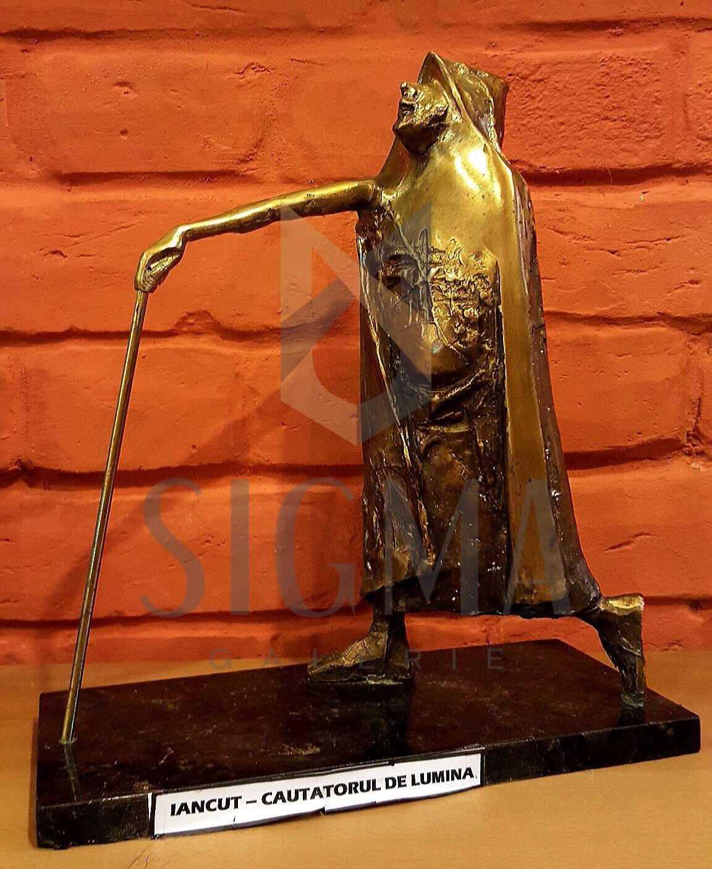 """ION IANCUT """" CAUTATORUL DE LUMINA"""" ( bronz- lucrare de atelier !! )"""