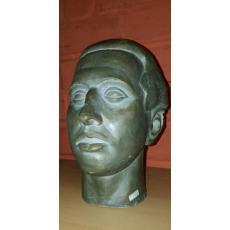SCULPTURA,G. ANGHEL, SEMNAT OLOGRAF DE ARTIST PE GAT G. ANGHEL 1948   -   PORTRET BAIAT