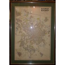 HARTA ORASULUI BUCURESTI - BUKAREST, 1943