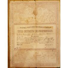 TITLU DEFINITIV DE PROPRIETATE, semnat Ministru Voicu NITESCU, noiembrie 1933