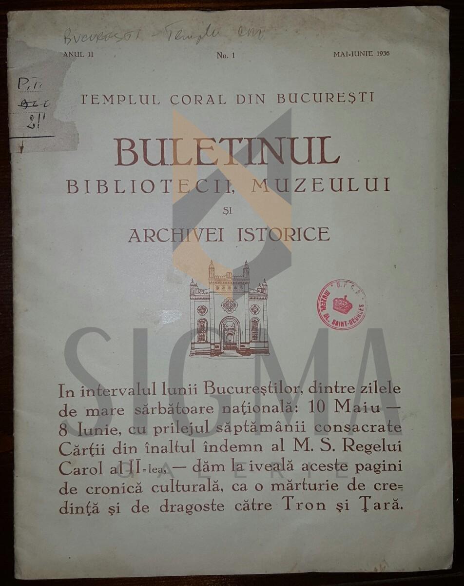 TEMPLUL CORAL DIN BUCURESTI - REDACTOR M. A. HALVEY