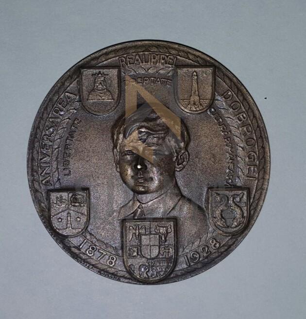MEDALIE ANIVERSAREA REALIPIREA DOBROGEI ( 1878-1928 ) Regele Ferdinand si Mihai