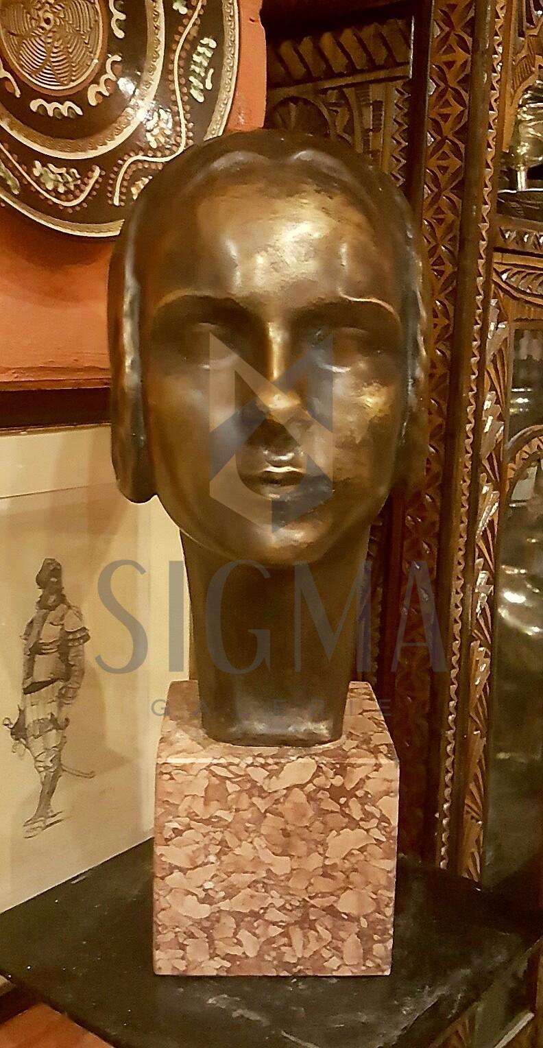 SCULPTURA , ALEXANDRU CALINESCU ( CALINESCO) , DOMNITA, bronz