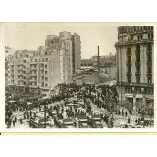 FOTO - BUCURESTI , CUTREMURUL DIN 1940 - BLOCUL CARLTON