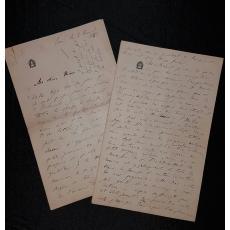 ALEXANDRU ODOBESCU ( ODOBESCO ) SCRISOARE ORIGINALA, PARIS 1868