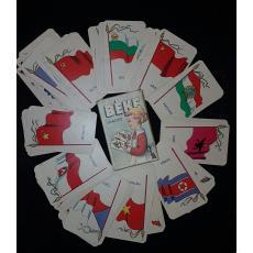 """SET COMPLET CARTI DE JOC  """"BEKE QUARTETT"""", 12 TARI x 4 = 48 CARTI DE JOC (PROPAGANDA COMUNISTA)"""