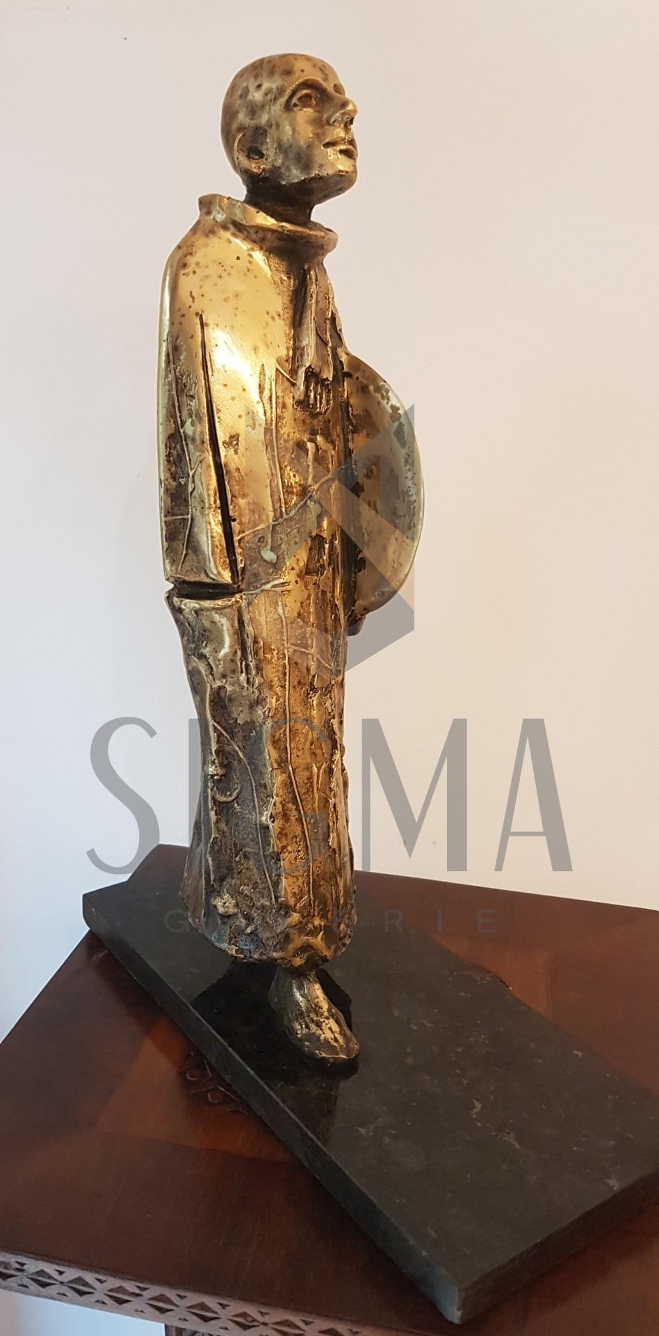 """SCULPTURA ION IANCUT """" CEASUL SOLAR """" ( bronz- lucrare autentica de atelier !! )"""