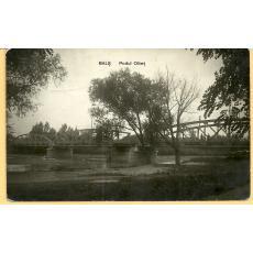 CARTE POSTALA, BALS - OLT , PODUL OLTET, 1934