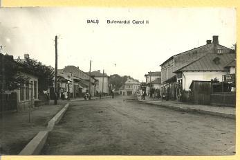 CARTE POSTALA, BALS - OLT , BULEVARDUL CAROL II, 1934
