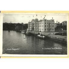 CARTE POSTALA, CONSTANTA, GARA MARITIMA, 1937