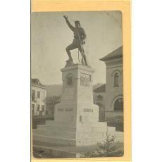 CARTE POSTALA, VULCAN -HUNEDOARA, MONUMENTUL EROILOR [ scultor Onofrei}, 1926