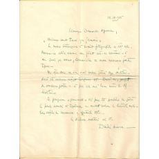 ARHITECT DUILIU MARCU - SCRISOARE ORIGINALA PRNTRU  PROF. GEORGE OPERESCU, 1935