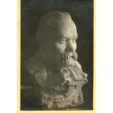 FOTO, BUST CALISTRAT HOGAS, SCULPTOR M. ONOFREI