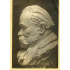 FOTO, BUST CALISTRAT HOGAS, SCULPTOR M. ONOFREI, IASI 1918