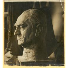 FOTO, BUST N. G. LUPU , SCULPTOR M. ONOFREI, 1934