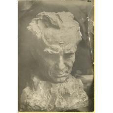 FOTO, BUST - PICTORUL TACHE SOROCEANU, SCULTAT DE M. ONOFREI, 1925
