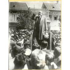 FOTOGRAFIE NICOLAE IORGA (Discurs Tinut In Piata Centrala din Sighisoara), 1931