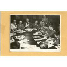 FOTO, MIHAIL SADOVEANU , DR. PARHON, SEDINTA FRONTUL PLUGARILOR