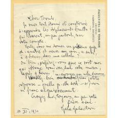 SCRISOARE - PLIC, GALA GALACTION  - ANTET FACULTATEA DE TEOLOGIE - CHISINAU, 1930