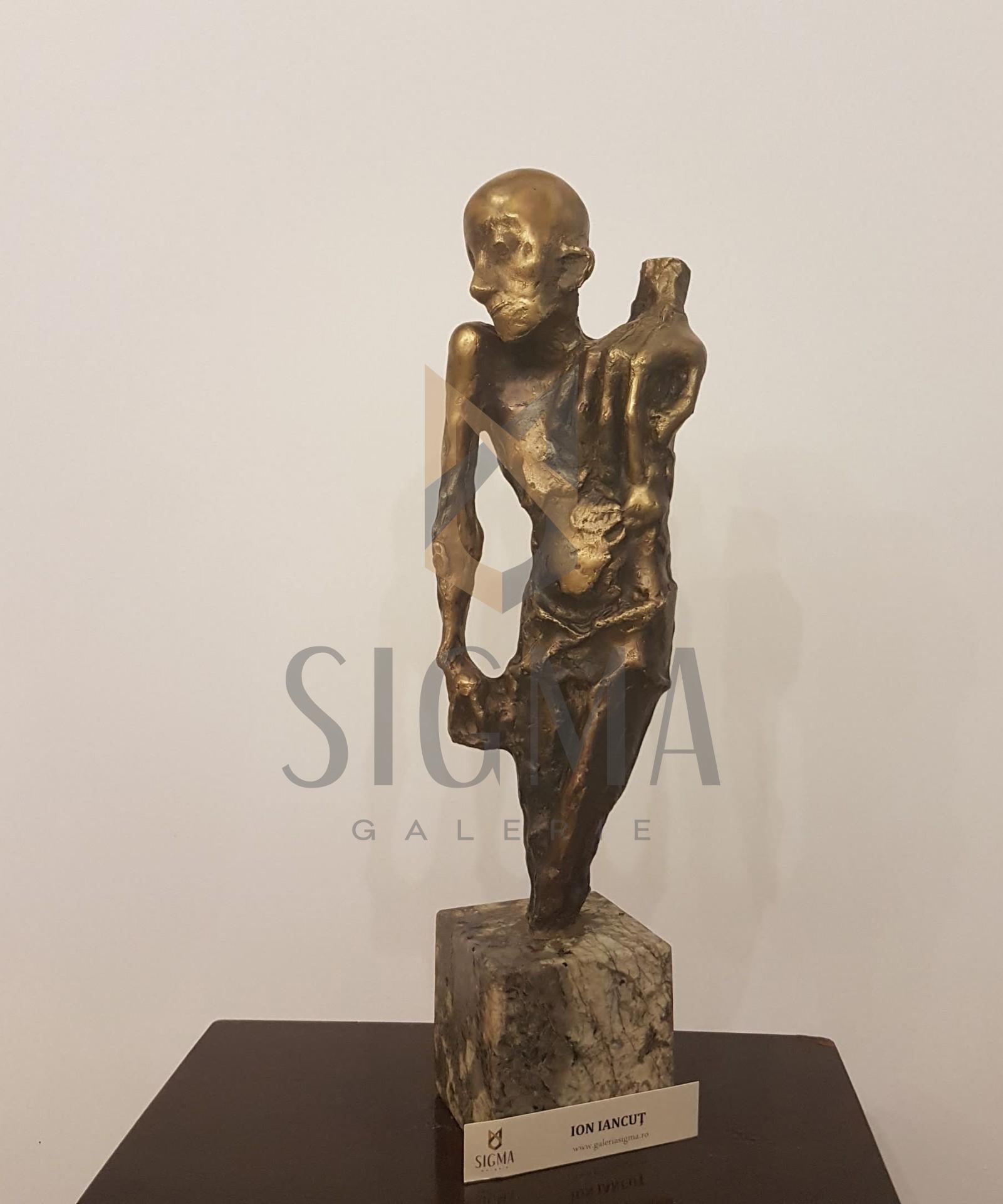 "SCULPTURA, ION IANCUT, BRONZ "" ADAM "" ( bronz- lucrare autentica de atelier !! )"