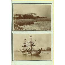 CARTE POSTALA, CONSTANTA, VEDERE DE LA CAZINOU, 1901