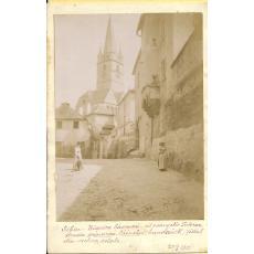 CARTE POSTALA, SIBIU, BISERICA SASEASCA, 1901