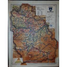 CONSTANTIN TEODORESCU (GENERAL), HARTA JUDETULUI HUNEDOARA (ROMANIA MARE), 1938