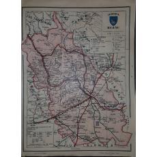 CONSTANTIN TEODORESCU (GENERAL), HARTA JUDETULUI BUZAU (ROMANIA MARE), 1938