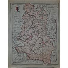 CONSTANTIN TEODORESCU (GENERAL), HARTA JUDETULUI CARAS (ROMANIA MARE), 1938