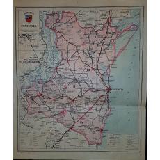 CONSTANTIN TEODORESCU (GENERAL), HARTA JUDETULUI CONSTANTA (ROMANIA MARE), 1938