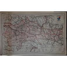 CONSTANTIN TEODORESCU (GENERAL), HARTA JUDETULUI CLUJ (ROMANIA MARE), 1938