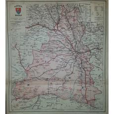 CONSTANTIN TEODORESCU (GENERAL), HARTA JUDETULUI DOLJ (ROMANIA MARE), 1938