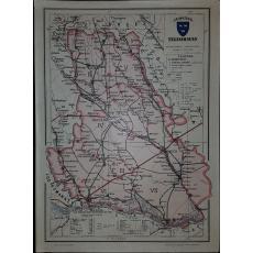 CONSTANTIN TEODORESCU (GENERAL), HARTA JUDETULUI TELEORMAN (ROMANIA MARE), 1938
