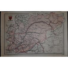 CONSTANTIN TEODORESCU (GENERAL), HARTA JUDETULUI MURES (ROMANIA MARE), 1938