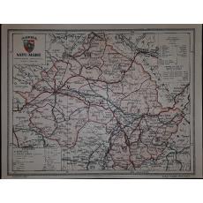 CONSTANTIN TEODORESCU (GENERAL), HARTA JUDETULUI SATU-MARE (ROMANIA MARE), 1938