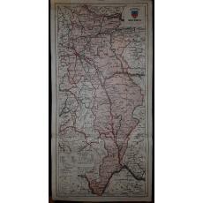 CONSTANTIN TEODORESCU (GENERAL), HARTA JUDETULUI SEVERIN (ROMANIA MARE), 1938