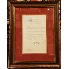"""REGELE """"CAROL I"""" si """"TITU MAIORESCU"""" (Ministrul Afacerilor Straine), Document de Cancelarie, 1907 (Semnaturi In Original !)"""