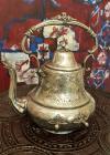 Ceainic, alpaca argimtata, cu monograme, dăruit ca premiu