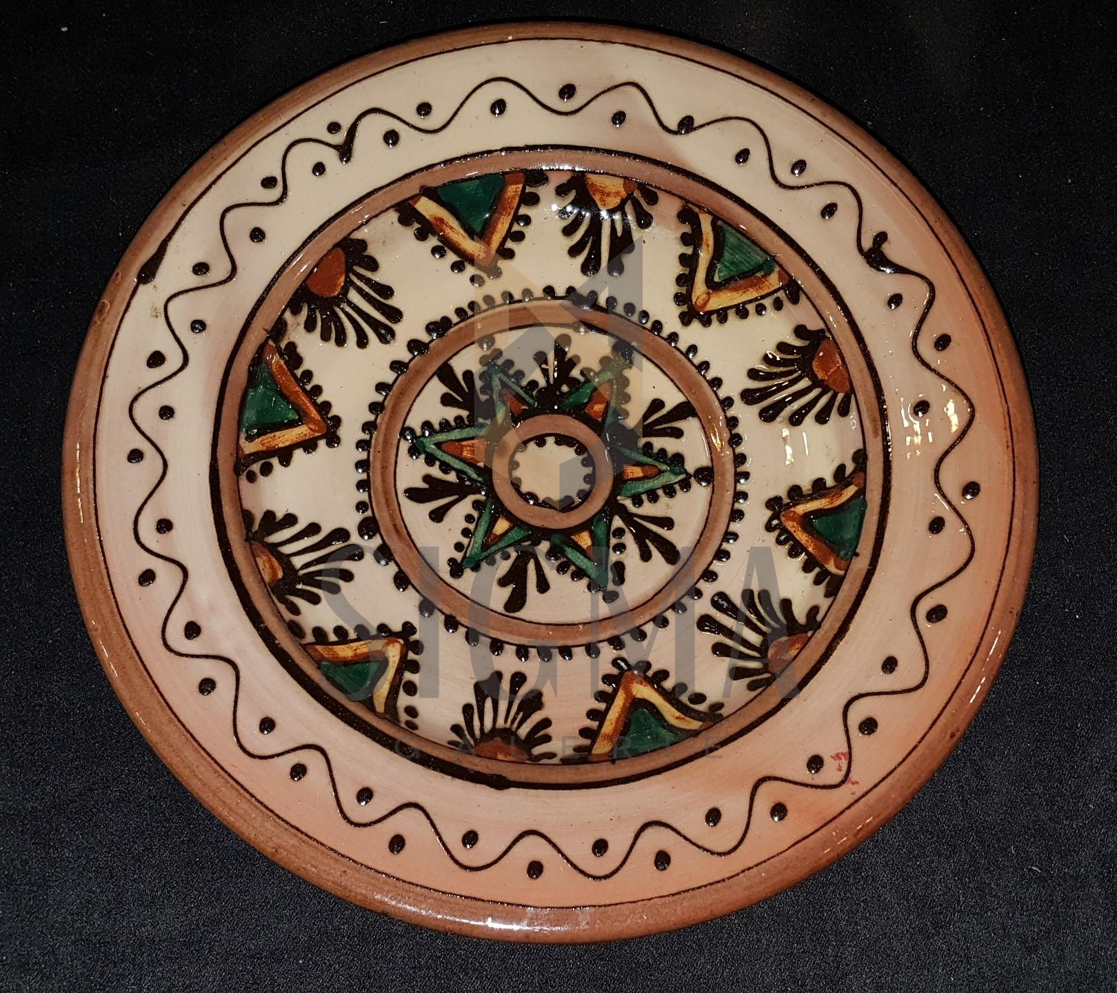VAS DECORATIV CERAMICA - TRADITIONAL, DIAMETRU 23 CM