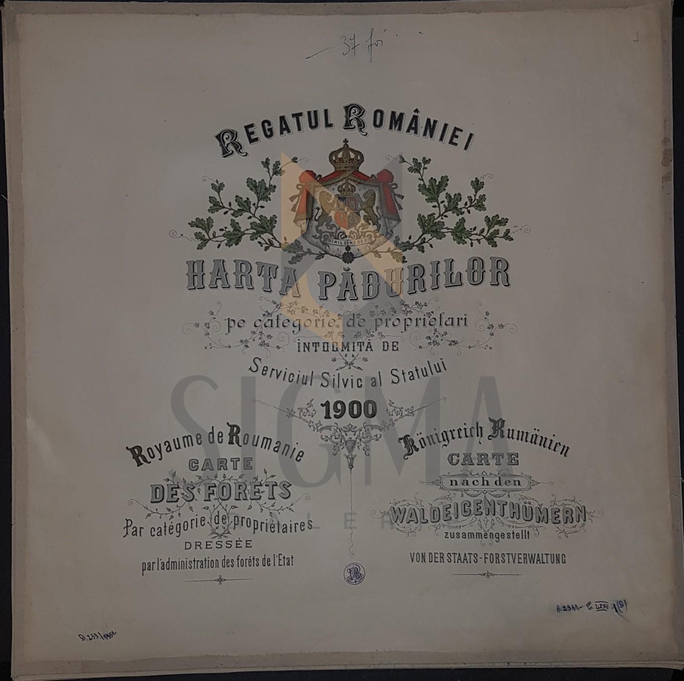 REGATUL ROMANIEI (Serviciul Silvic al Statului)