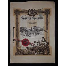 REGATUL ROMANIEI, BREVET REGAL ROMAN, DISPOZITIV PENTRU LANSAREA BOMBELOR DE PE AERONAVE, 1930