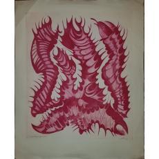 FRED MICOS, COMPOZITIE (SUREALISTA), Aquatinta, Exemplar de Artist!, 74cm. X 61cm.