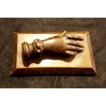 "PRESPAPIER, din bronz, accesoriu de birou reprezentand ""mana dama"""