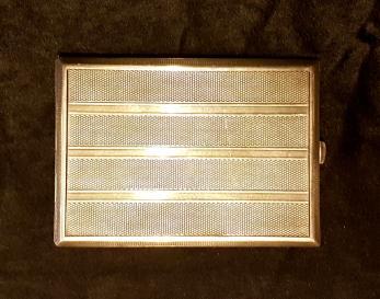 TABACHERA ARGINT MASIV, MARCAT 925, CU INTERIORUL AURIT