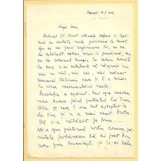 SCRISOARE, I. D. SUCIU ( ISTORIC BANATEAN )  CATRE PREOTUL IOAN MURESAN , 1969