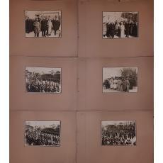 FOTO, 1600 ANI PRIMUL SF. SINOD ECUMENIC, IASI, LOT DE 12 FOTOGRAFII ( PATRIARHUL MIROIN CRISTEA, MITROPOLITUL PIMEN, MINISTRUL AL. LAPEDATU ), 1925