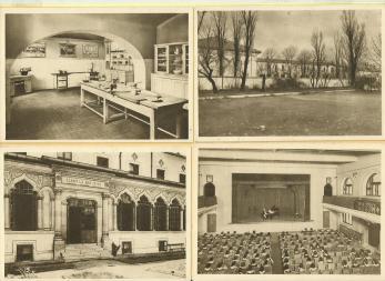 20 CARTI POSTALE, SCOALA CENTRALA DE FETE DIN BUCURESTI ( arhitect I. Mincu ) , 1935