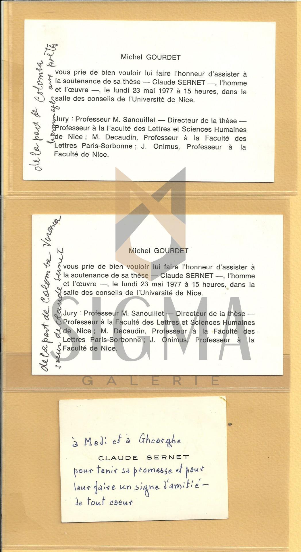 CLAUDE SERNET, MICHEL GOURDET (TEZA OPEREI LUI SERNET), MADI DINU, COLOMBA, FOX BRUNE