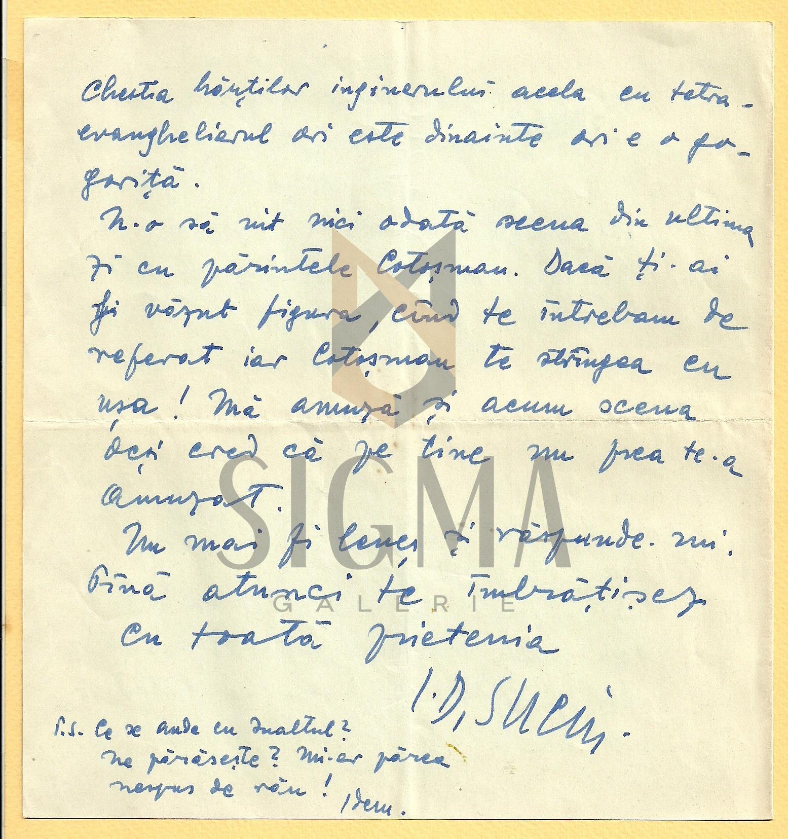 SCRISOARE, I. D. SUCIU ( ISTORIC BANATEAN )  CATRE PREOTUL IOAN MURESAN , 1967