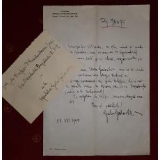 SCRISOARE-DOCUMENT, GALA GALACTION catre PETRE CONSTANTINESCU, Iasi, 1950